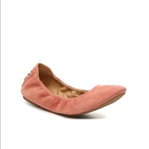 New Lucky brand echo ballet flat suede Clay size 7